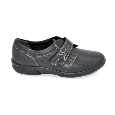 DB Black Ladies Shoe Extra Wide Fitting