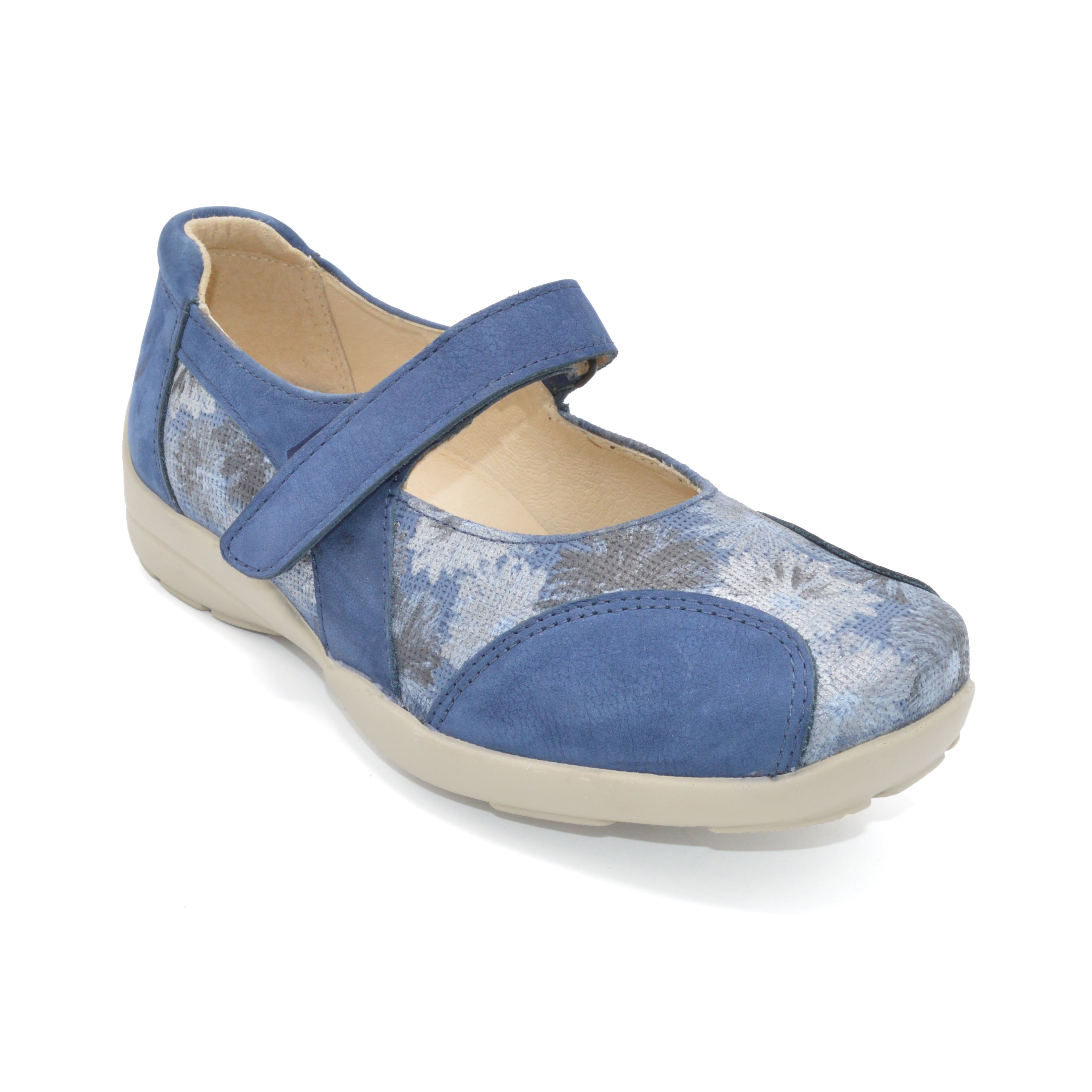 Very Wide Navy Ladies Shoes for Bunions