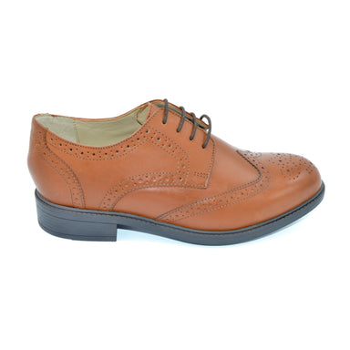DB Wider Fit Brown Brogue Men's Shoe