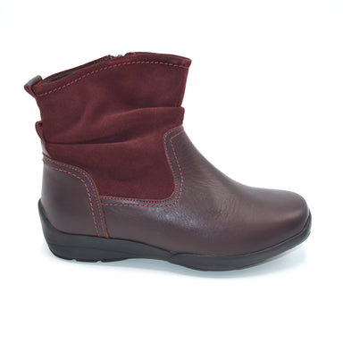 DB Wide Fitting Burgundy Ankle Boot