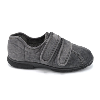 DB Mens Grey Extra Wide House Shoe