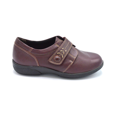 DB Burgundy Ladies Shoe Extra Wide Fitting