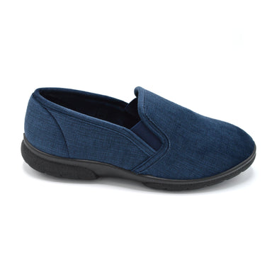 DB Mens Navy Extra Wide Slipper