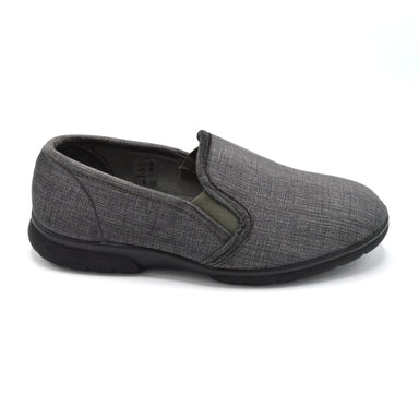 DB Mens Grey Extra Wide Slipper