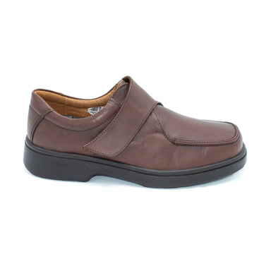 DB Wide Brown Velcro Mens Shoe