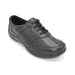 Wide Black Leather Walking Shoe For Orthotics