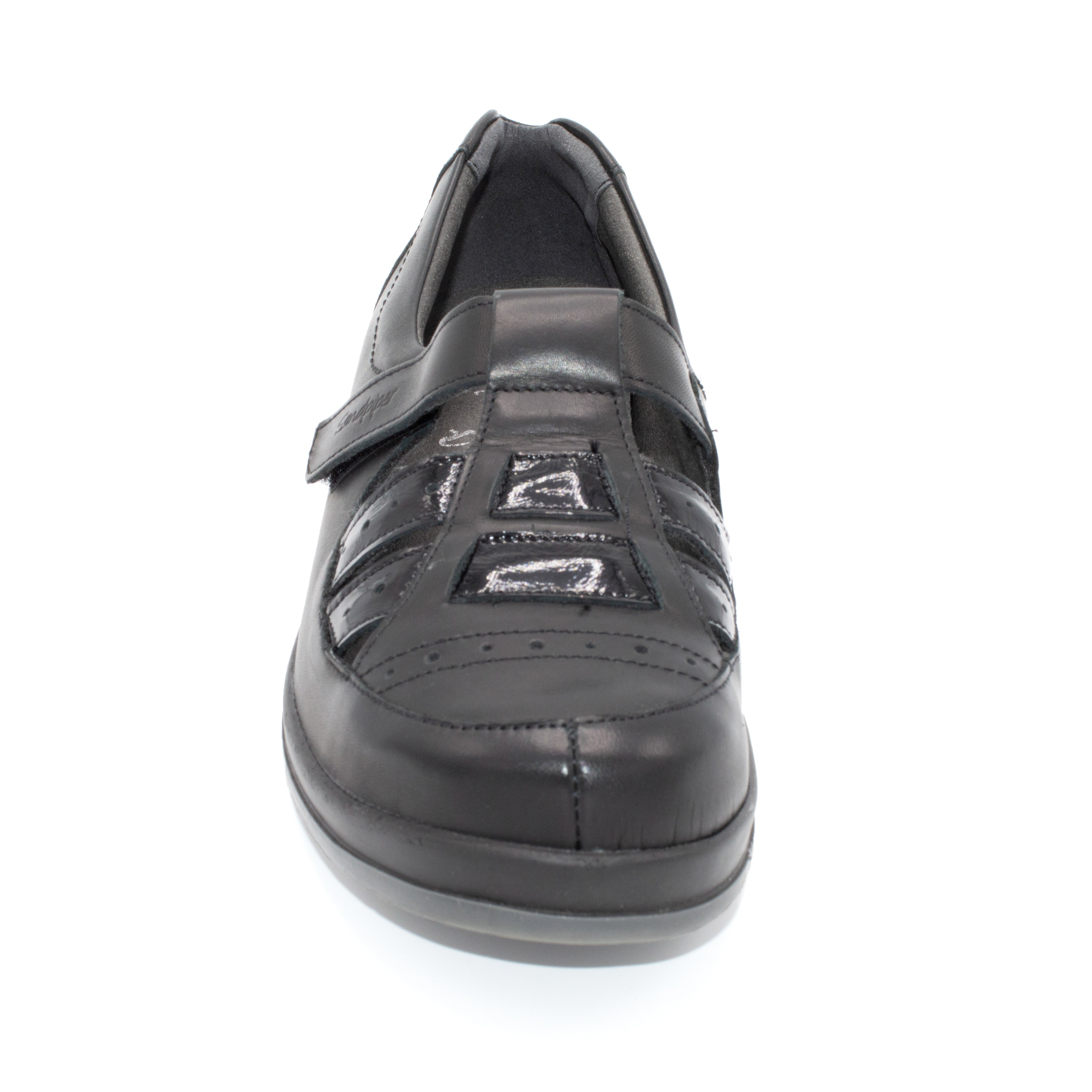 Black Ladies Velcro Shoe For Swollen Feet