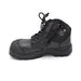 Mens Zipped Black Safety Boots for Bunions