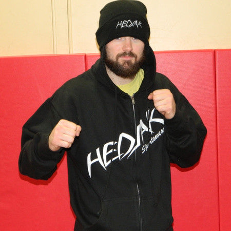 Zip-Up Old School Wrestling Hedjak in Black