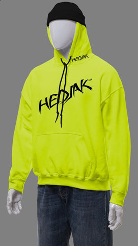 HEDJAK Standard Hi Vis Lime Pull Over with Chest Logo