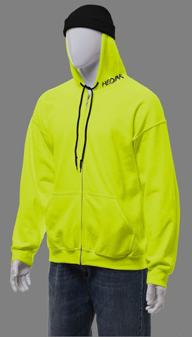 HEDJAK Standard Hi Vis Lime Zip Up