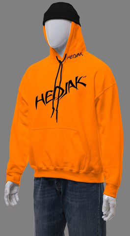 HEDJAK Standard Blaze Orange Pull Over with Matching Chest Logo