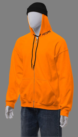HEDJAK Standard Blaze Orange Zip Up
