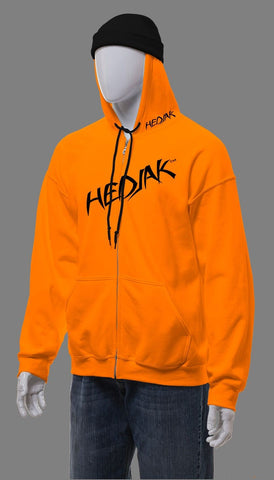 HEDJAK Standard Blaze Orange Zip Up with Matching Chest Logo