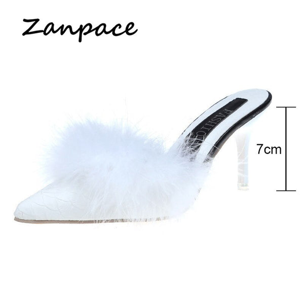 Sexy Pointed Toe Fur Slippers - Boujee Boutique Incorporated