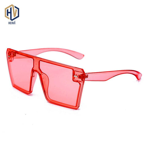 Oversized Square Large Frame Sunglasses Women Fashion Retro Classic Sun Glasses Flat Top Candy Colors Eyewear - Boujee Boutique Incorporated