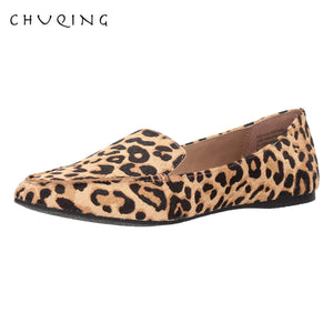 Women's Casual Flat Shoes Loafers Women Fashion Comfortable CHUQING Brand Leopard Shoes Trend Breathable and Comfortable - Boujee Boutique Incorporated