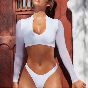 Mesh Long Sleeve Bikini - Boujee Boutique Incorporated
