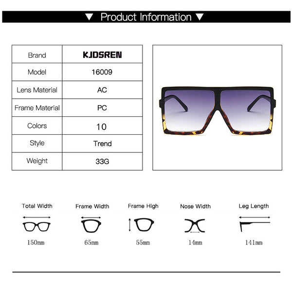 New Fashion 2020 Women Sunglasses Classic Square Very Large Oversized Glasses Ladies Shades Square Sun Glasses Female Oculos - Boujee Boutique Incorporated
