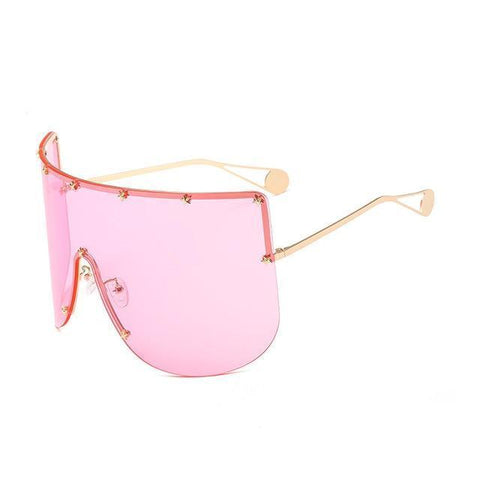 Elaiza Oversized Sunglasses - Gold Pink - Boujee Boutique Incorporated