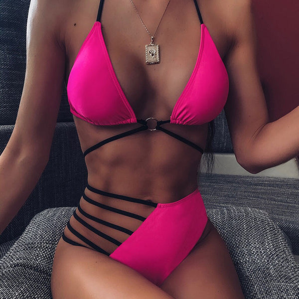 Bikini 2pcs Sexy High Waist Bikini Set - Boujee Boutique Incorporated