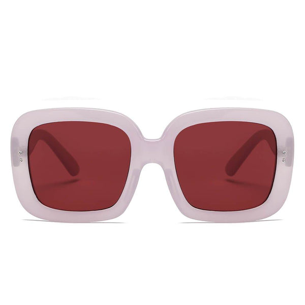 Women Retro Trendy Vintage Bold Square Oversize Sunglasses - Boujee Boutique Incorporated