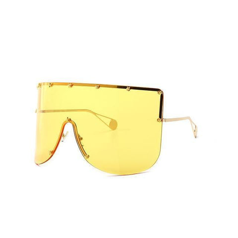 Elaiza Oversized Sunglasses - Gold Yellow - Boujee Boutique Incorporated