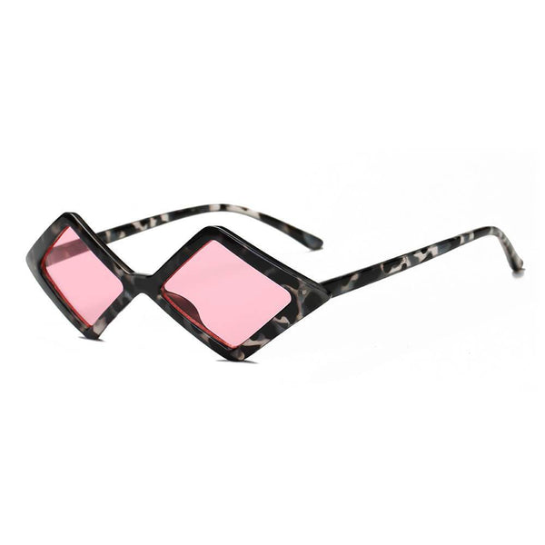 Women Modern Fashion Geometric Diamond Shape Sunglasses - Boujee Boutique Incorporated