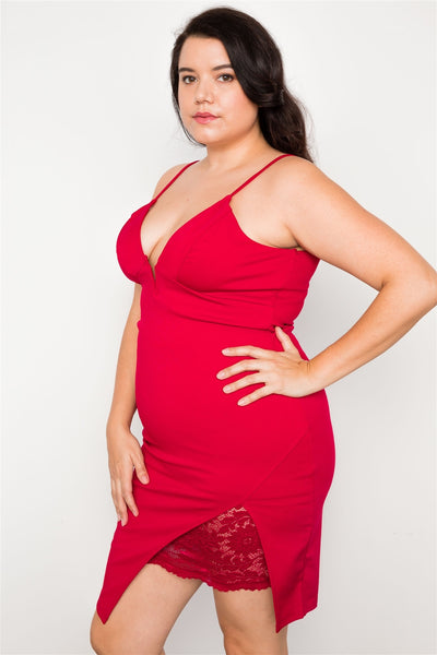 Plus Size Bodycon Cami Mini Dress - Boujee Boutique Incorporated