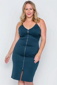 Plus Size Black Ribbed Cami Bodycon Mini Dress - Boujee Boutique Incorporated