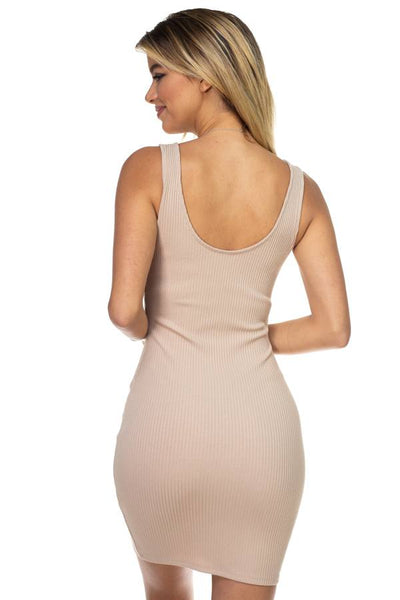 O-ring Front Zipper Up Mini Dress - Boujee Boutique Incorporated
