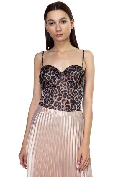 Sleeveless Leopard Bodysuit - Boujee Boutique Incorporated