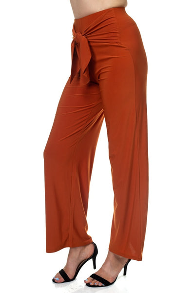 Wrap Waist Tie Pants - Boujee Boutique Incorporated