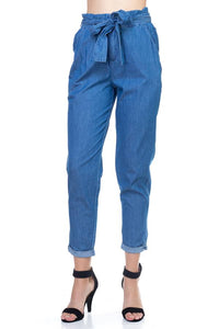 Chambray Denim Pants - Boujee Boutique Incorporated