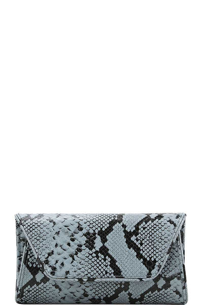 Cute Python Pattern Clutch Cross Body - Boujee Boutique Incorporated
