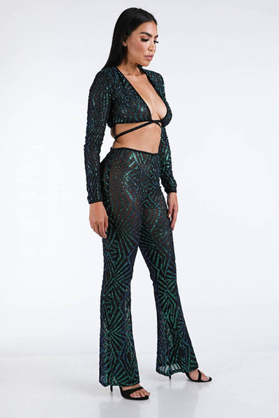 Glitter Pants Set - Boujee Boutique Incorporated