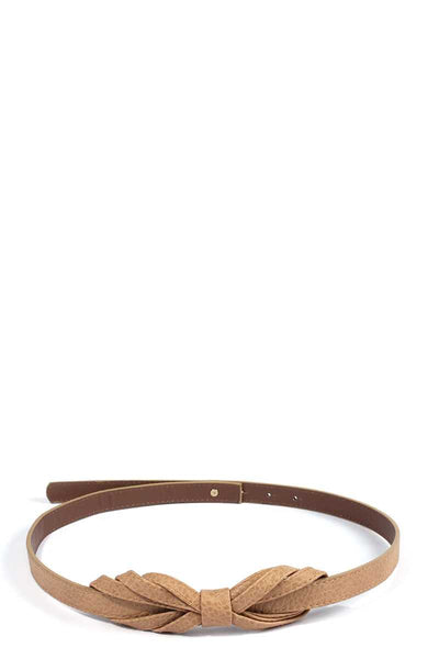 Bow Pu Leather Belt - Boujee Boutique Incorporated