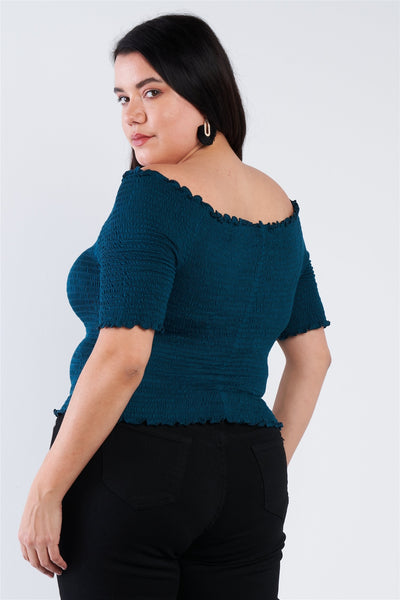 Plus Size Off The Shoulder Top - Boujee Boutique Incorporated