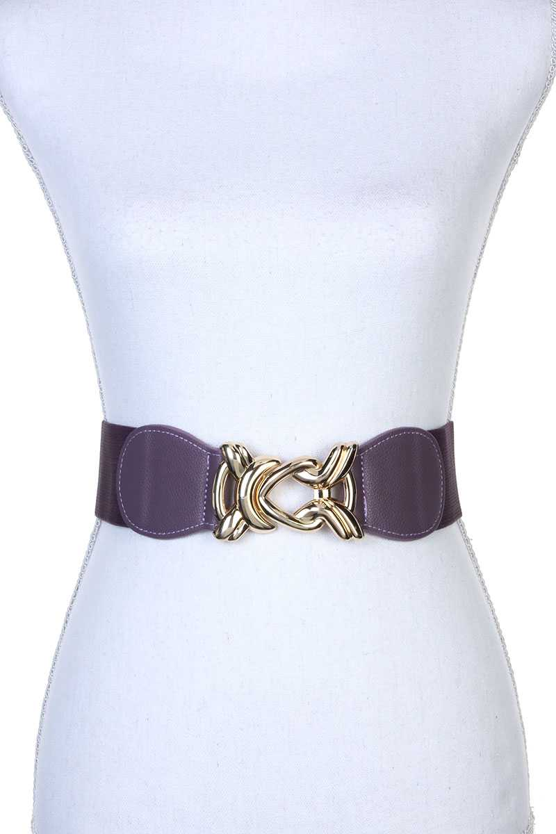 Knot Metal Buckle Stretch Belt - Boujee Boutique Incorporated