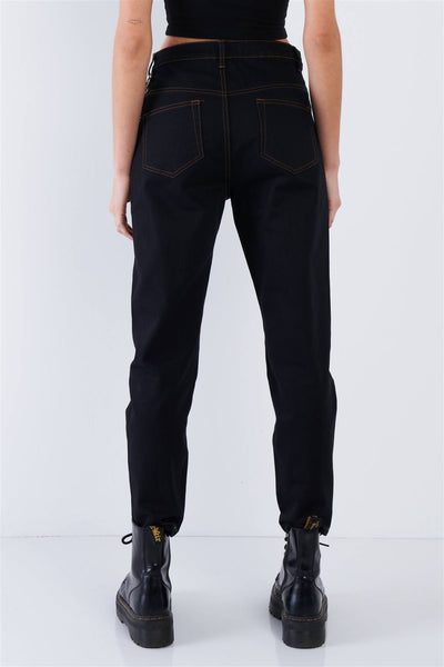 Black Casual Denim Boot Cut Jeans - Boujee Boutique Incorporated
