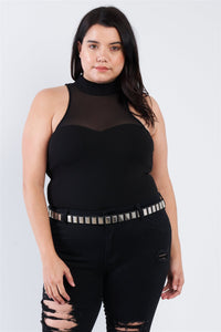 Plus Size Mock Turtleneck Bodysuit - Boujee Boutique Incorporated
