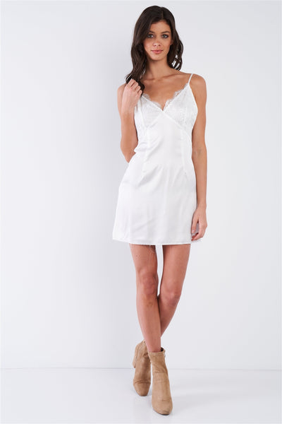 Silk Leave Trim Raw Hem Criss-cross Back Mini Chic Dress - Boujee Boutique Incorporated