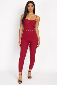 Waist Cutout Skinny Jumpsuit - Boujee Boutique Incorporated