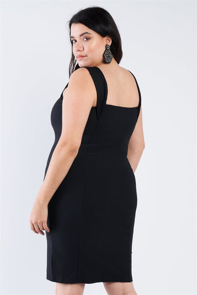 Plus Size  Front Zip Dress - Boujee Boutique Incorporated