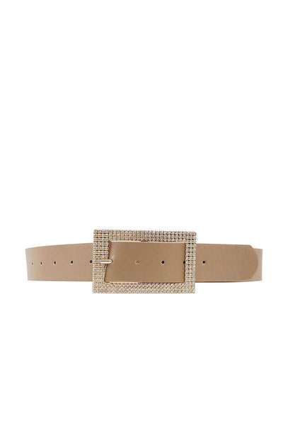 Fashion Rhinestone Square Buckle Belt - Boujee Boutique Incorporated