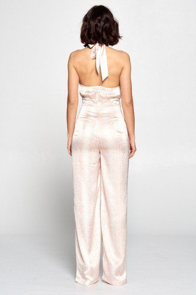 Wrap Front Halter Top Jumpsuit - Boujee Boutique Incorporated