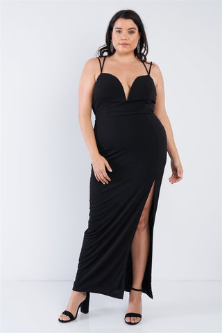 Plus Size Sexy Floor Length Dress - Boujee Boutique Incorporated