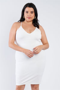Plus Size Basic Bodycon Dress - Boujee Boutique Incorporated