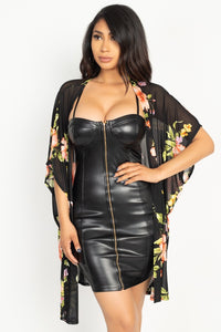 Flower Print Mesh Jacket - Boujee Boutique Incorporated