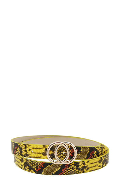 Stylish Python Print Belt - Boujee Boutique Incorporated
